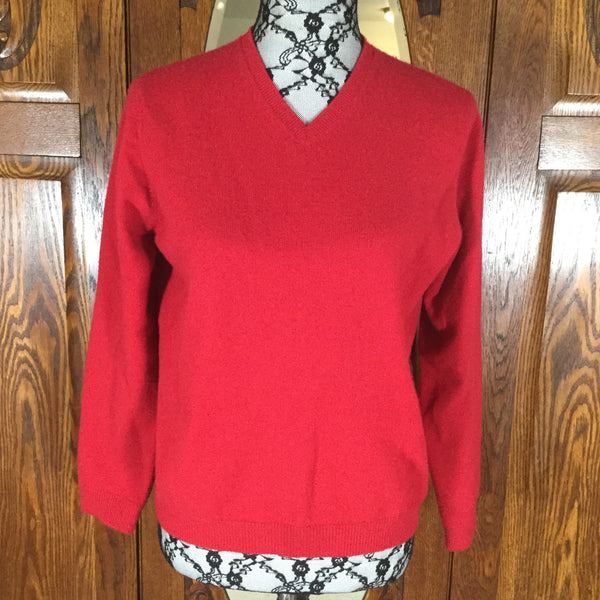 Lands End Red Long Sleeve Cashmere Sweater Size S/P