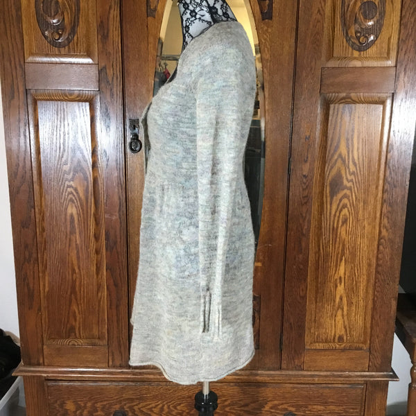 Sleeping on Snow for Anthropologie Gray Rainbow Long Sleeve Long Cardigan Sweater Size L