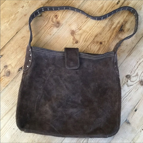 Gap Brown Suede Shoulder Handbag Purse