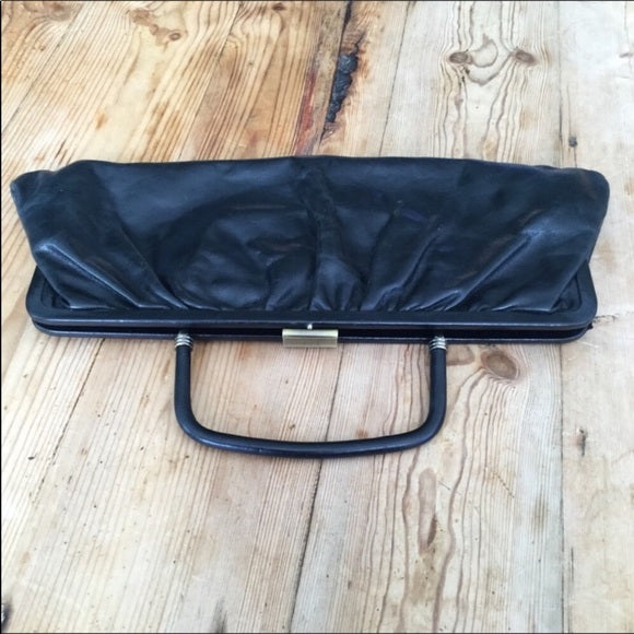 Hobo International Black Leather Clutch Bag Purse