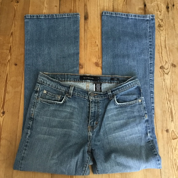 Calvin Klein Faded Flare Jeans Size 10