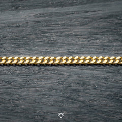 Luxury Gold Cuban Chain 3mm