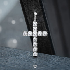 Luxury VVS Diamond Cross Pendant