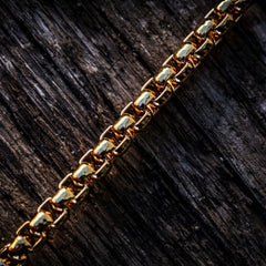 Mens gold box chain