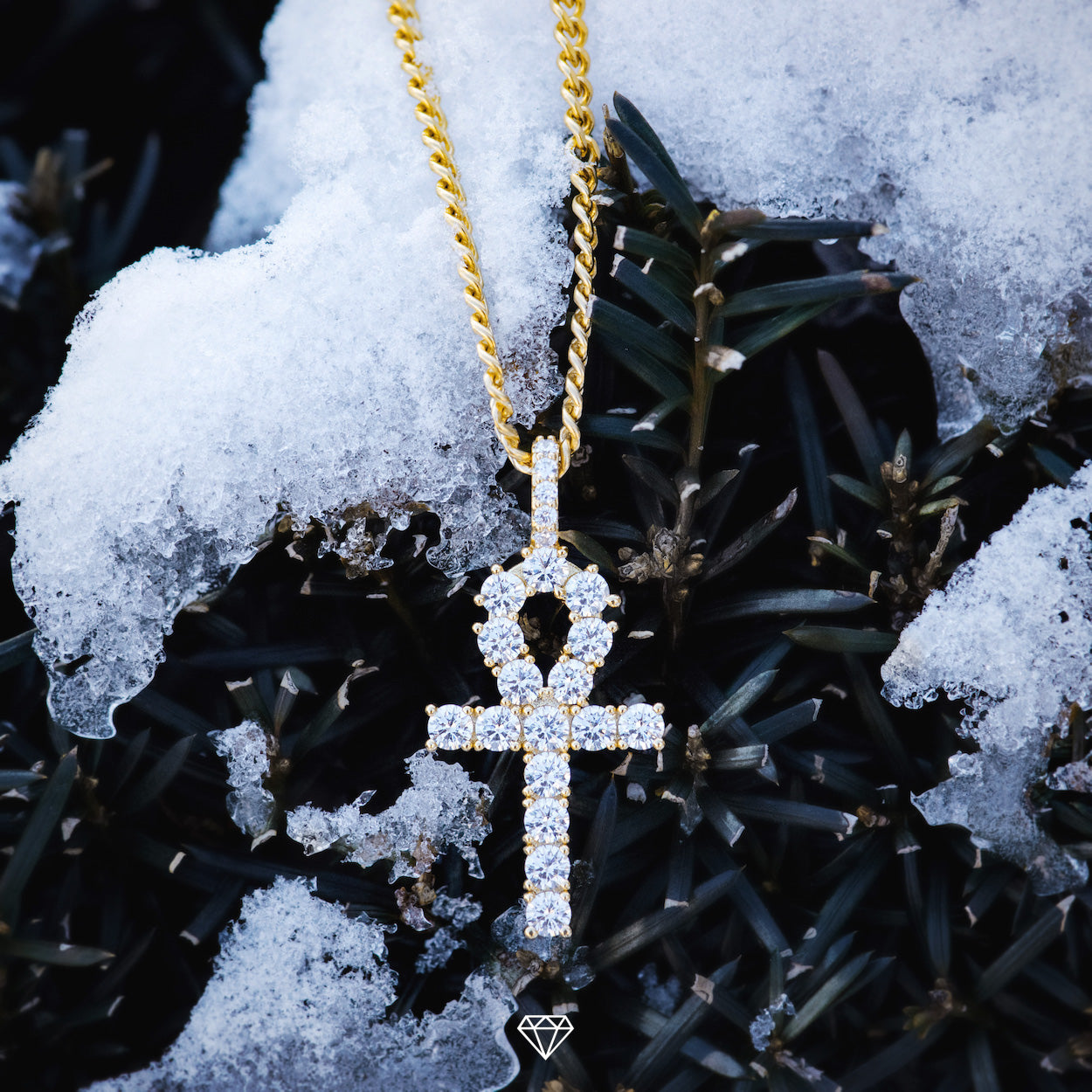 Hip Hop Diamond Ankh Pendant by Gold City