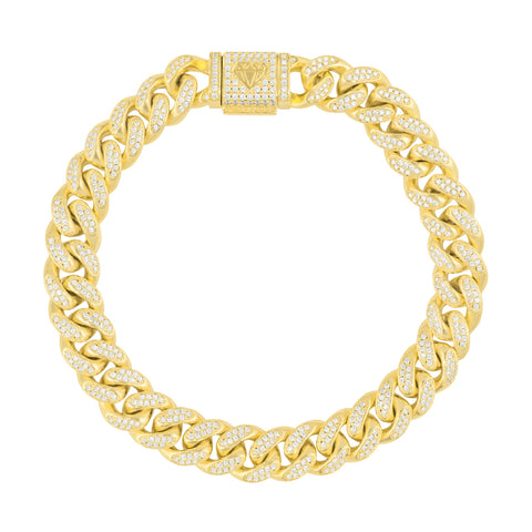 Gold City Diamond Cuban Hip Hop Bracelet