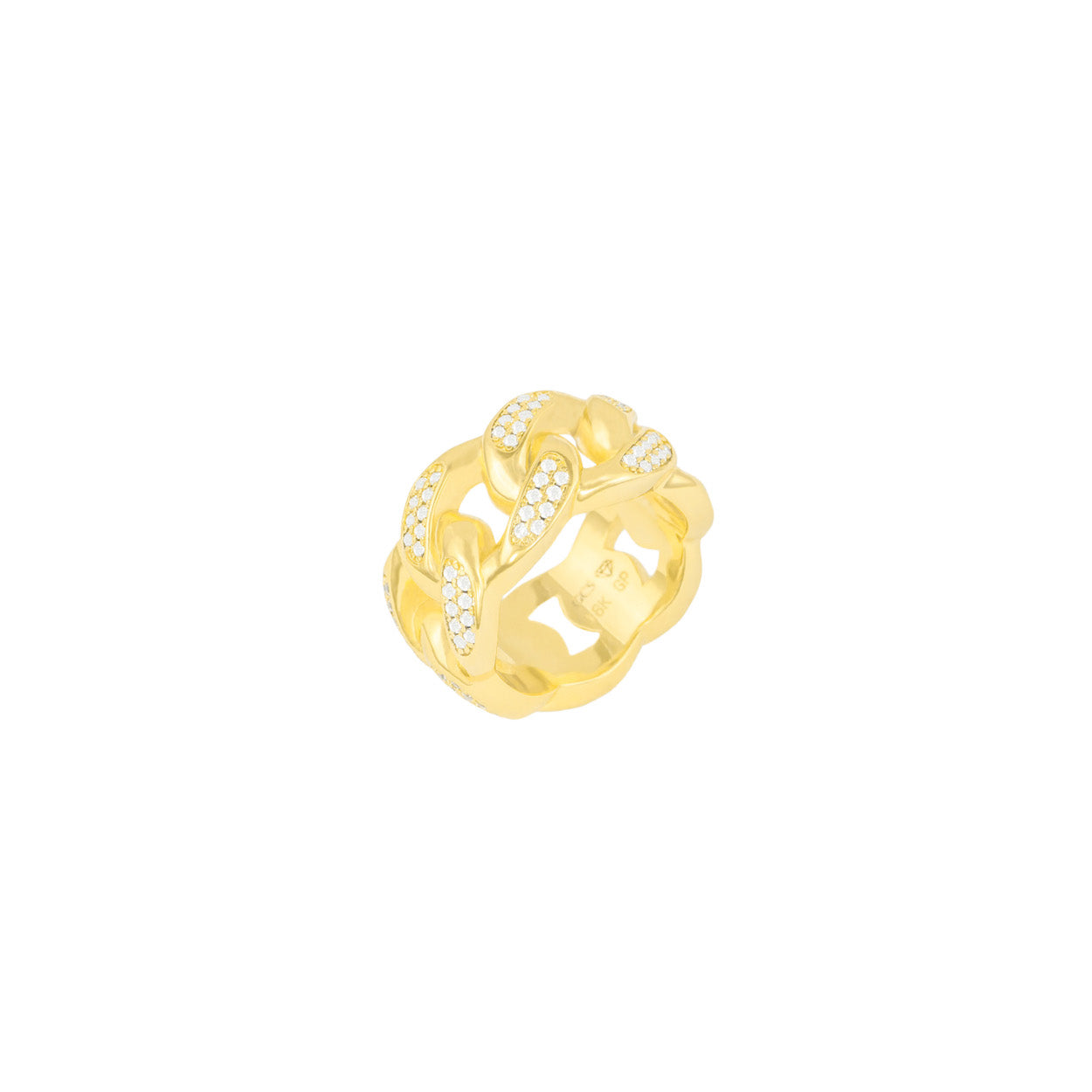 Gold City Mens Diamond Cuban Ring