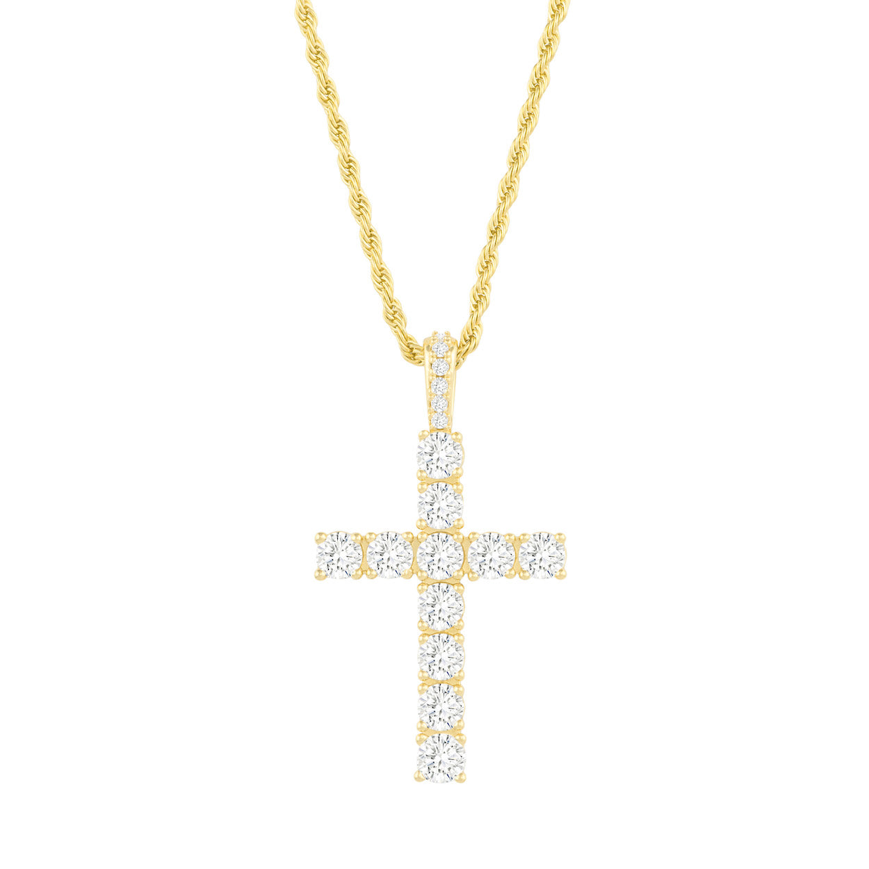 Gold City Diamond Cross Luxury Pendant