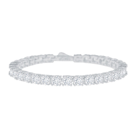 Gold City Diamond Tennis HipHop Bracelet in White Gold