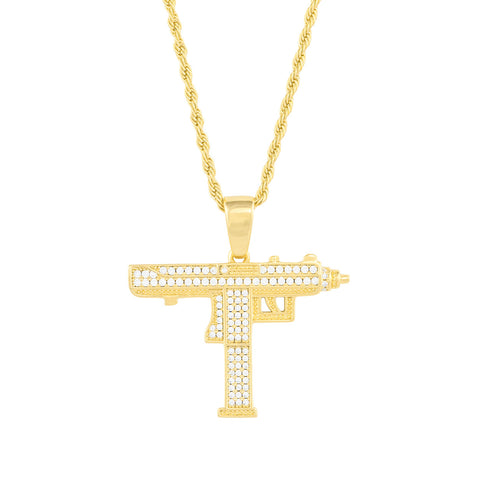 Gold City Diamond Uzi Hip Hop Pendant