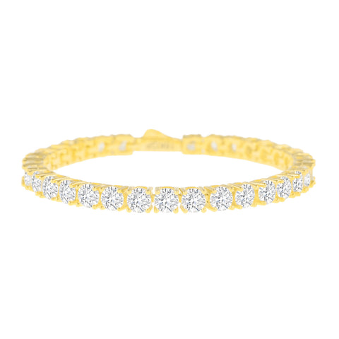 Gold City Hip Hop Diamond Tennis Bracelet