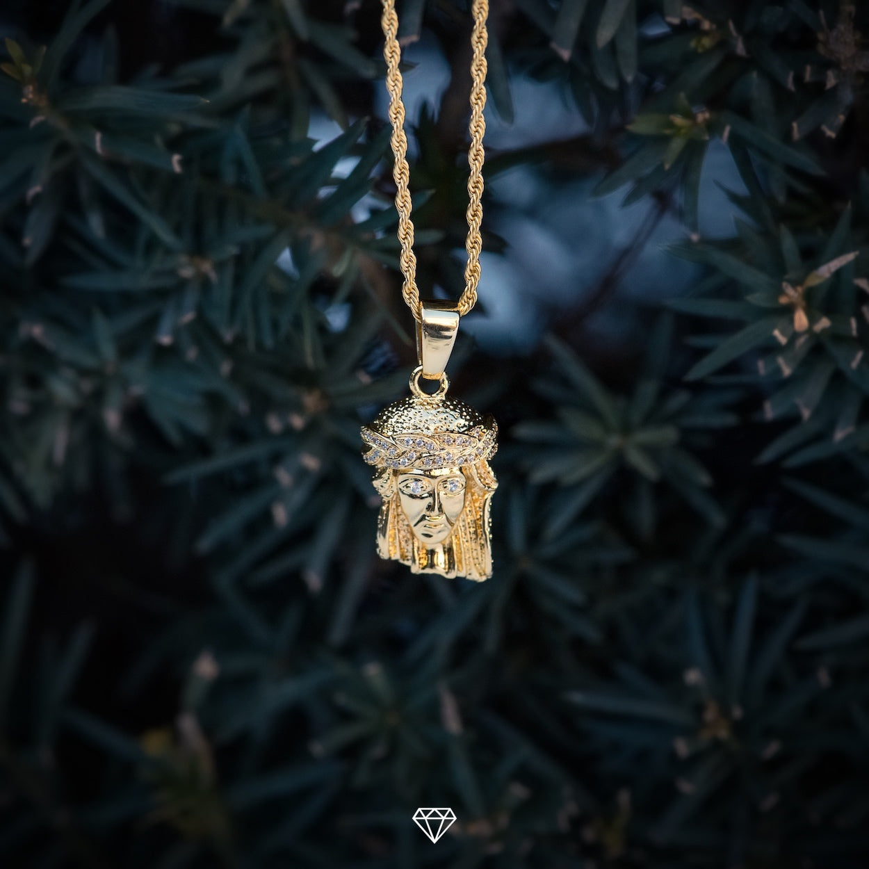 Mens Hiphop Jesus Piece Pendant