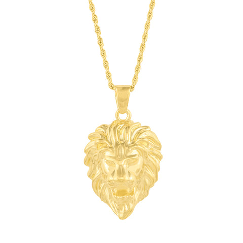 Gold City Lion head Pendant