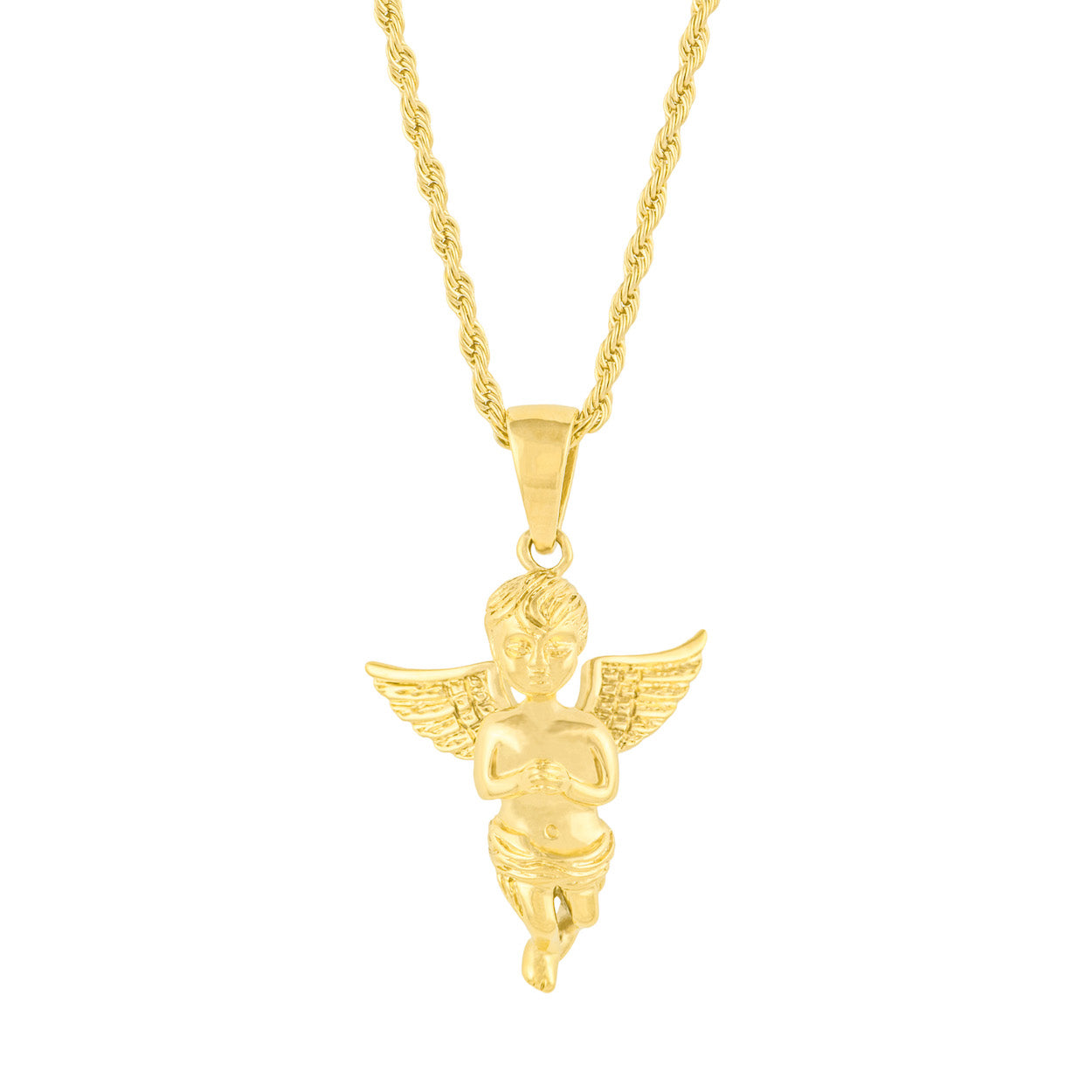 Gold City Angel Pendant