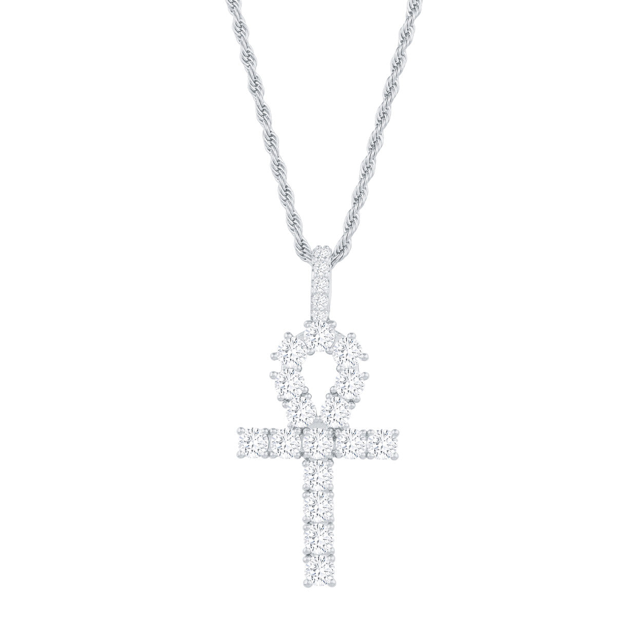 Gold City Luxury Diamond Ankh Pendant