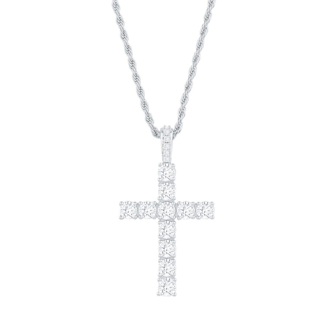 Gold City Luxury Diamond Cross Pendant