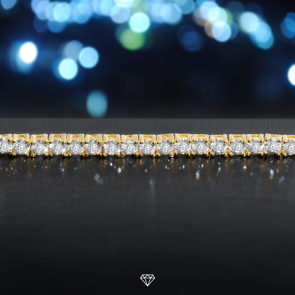 Luxury Round Diamond Tennis Bracelet