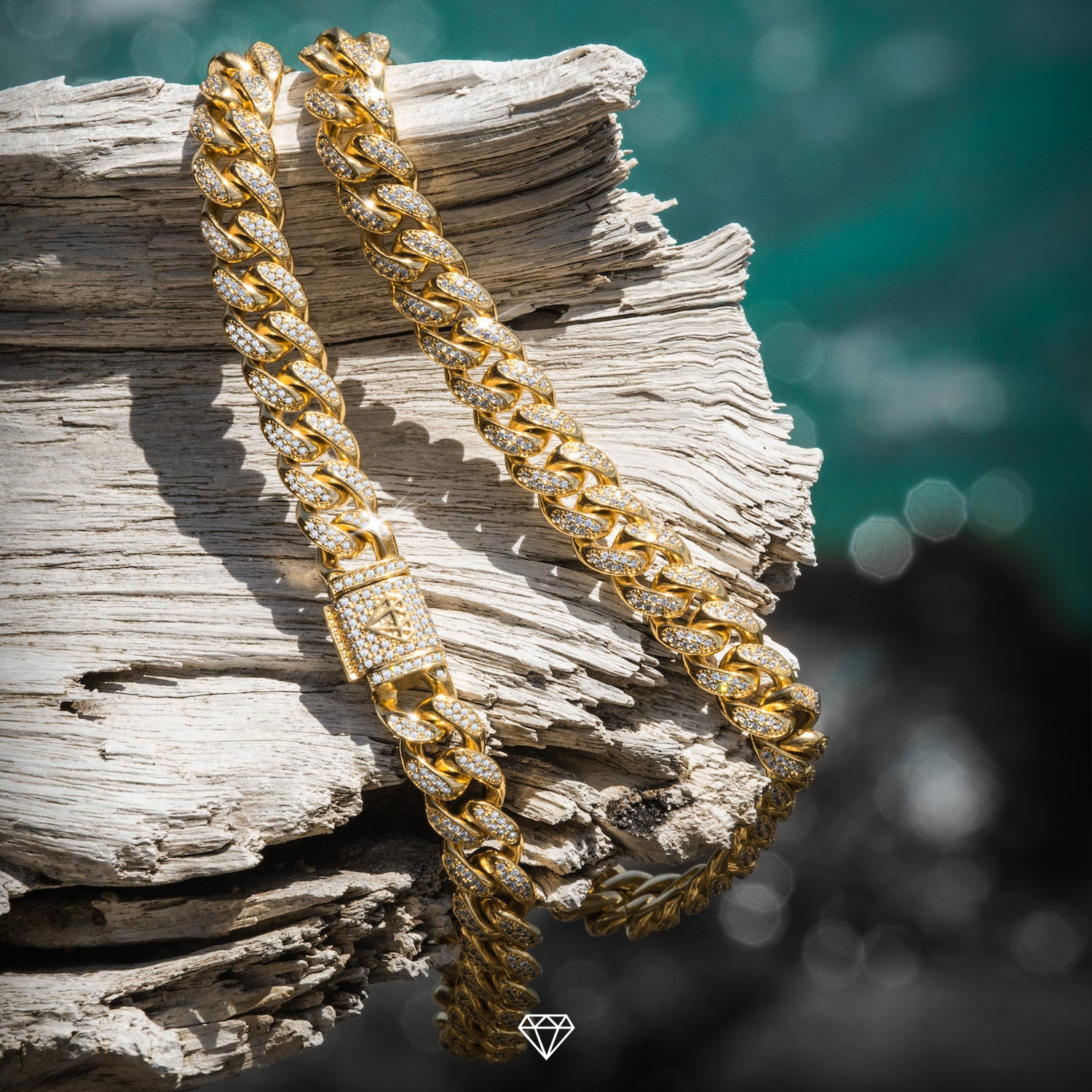 Men's Iced Out Cuban Chain from Gold City