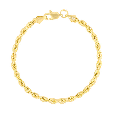 Gold City Mens Rope Bracelet