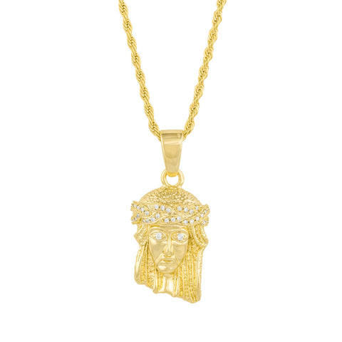 Gold City Jesus Piece Pendant