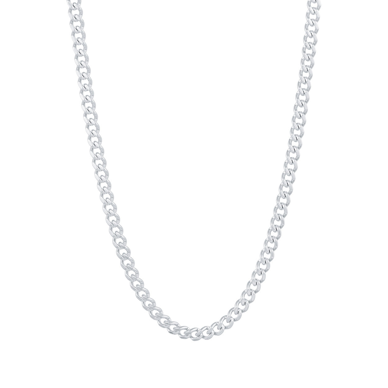 Gold City Cuban Link Chain in White Gold
