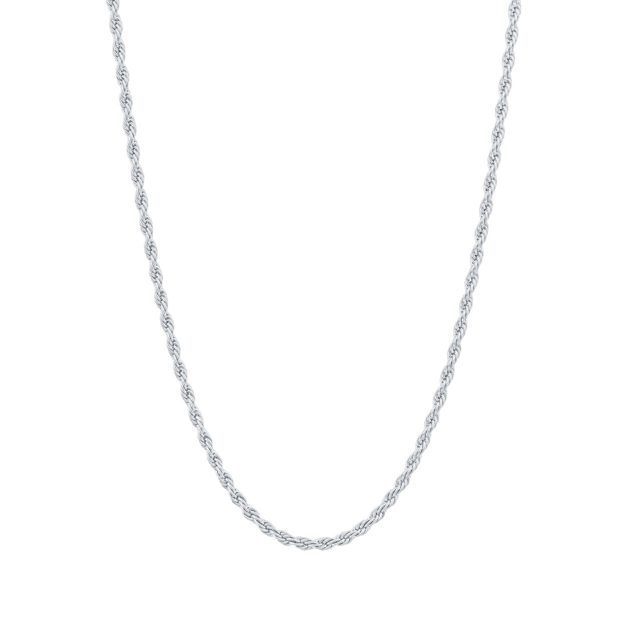 Gold City Luxury Rope Chain in White Gold