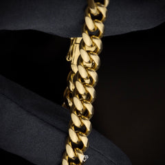 GCS Yellow Gold Miami Cuban Link Chain 7mm