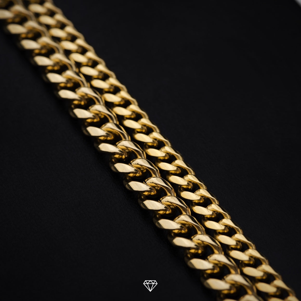 GCS Yellow Gold Miami Cuban Link Necklaces