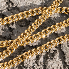 Gold City Mens Gold Cuban Link Chain