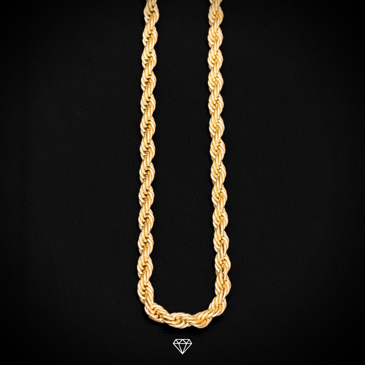 GCS Yellow Gold Rope Chain 4mm
