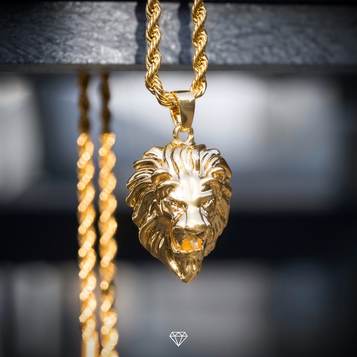 GCS Men's Yellow Gold Lion Pendant