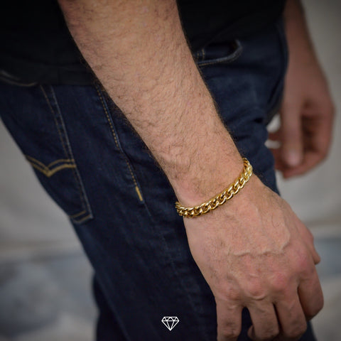 Gold City Yellow Gold Miami Cuban Link Bracelet