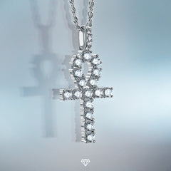 GCS White Gold Diamond Ankh