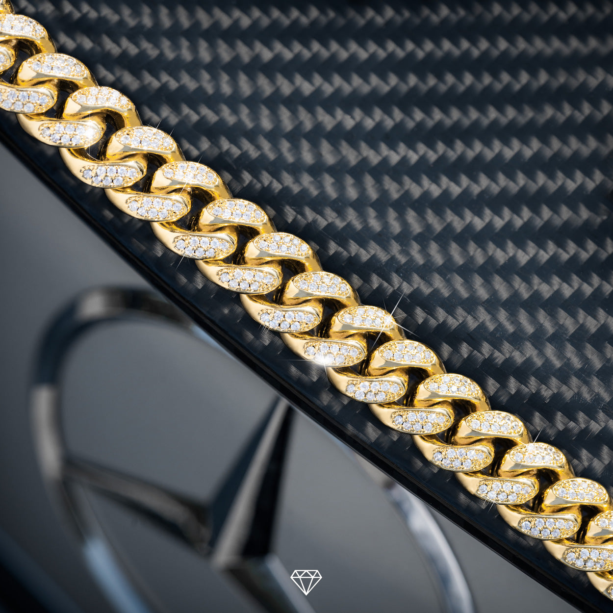 Gold City Diamond Cuban link bracelet for men