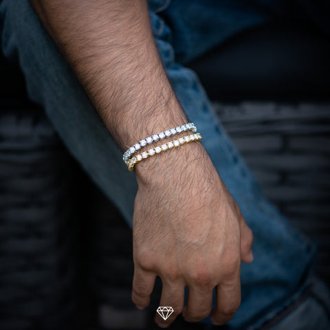 Hip Hop Iced Tennis Bracelets by Gold City Shop