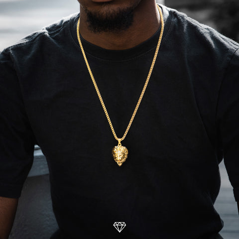 Hip Hop Lion head Necklace by Gold City