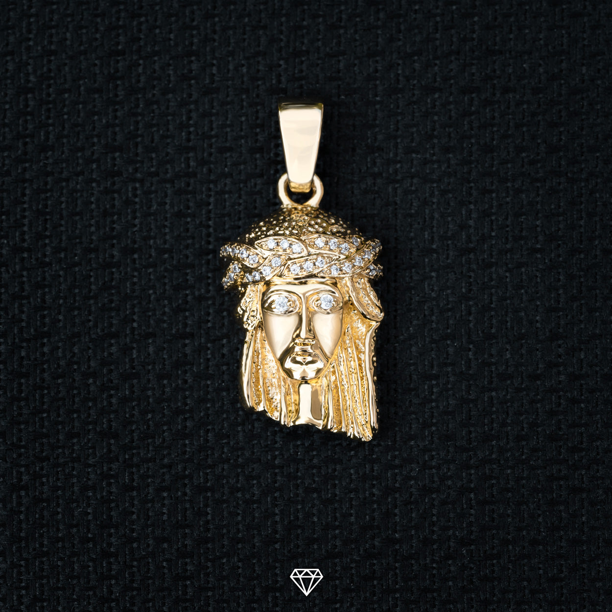 Jesus Pendant with Diamond eyes - Gold City