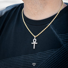 Gold City Diamond Ankh HipHop Pendant