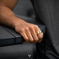 Men's Gold Cuban Ring