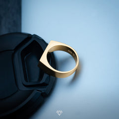 minimal men's gold ring by GCS