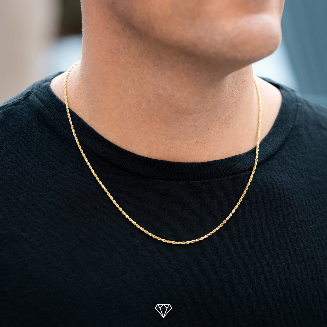 Gold City Mens Luxury Rope Chain