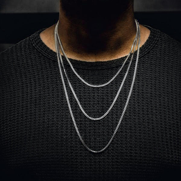 Cuban Chain White Gold (3mm)