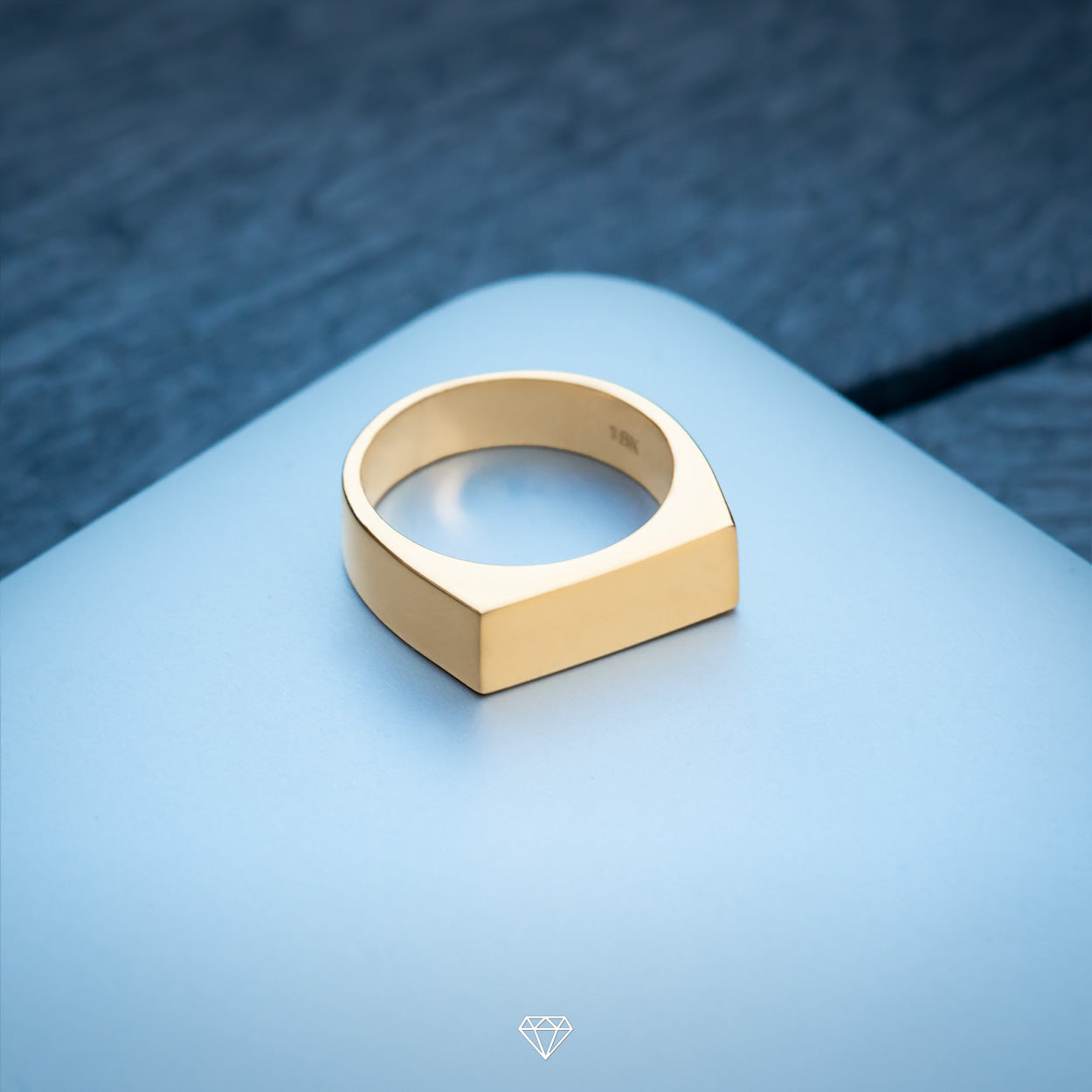 Gold City simple luxury mens ring