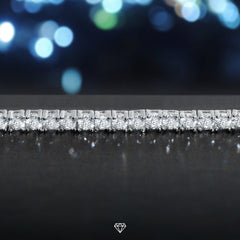 White Gold Iced Diamond Tennis Bracelet