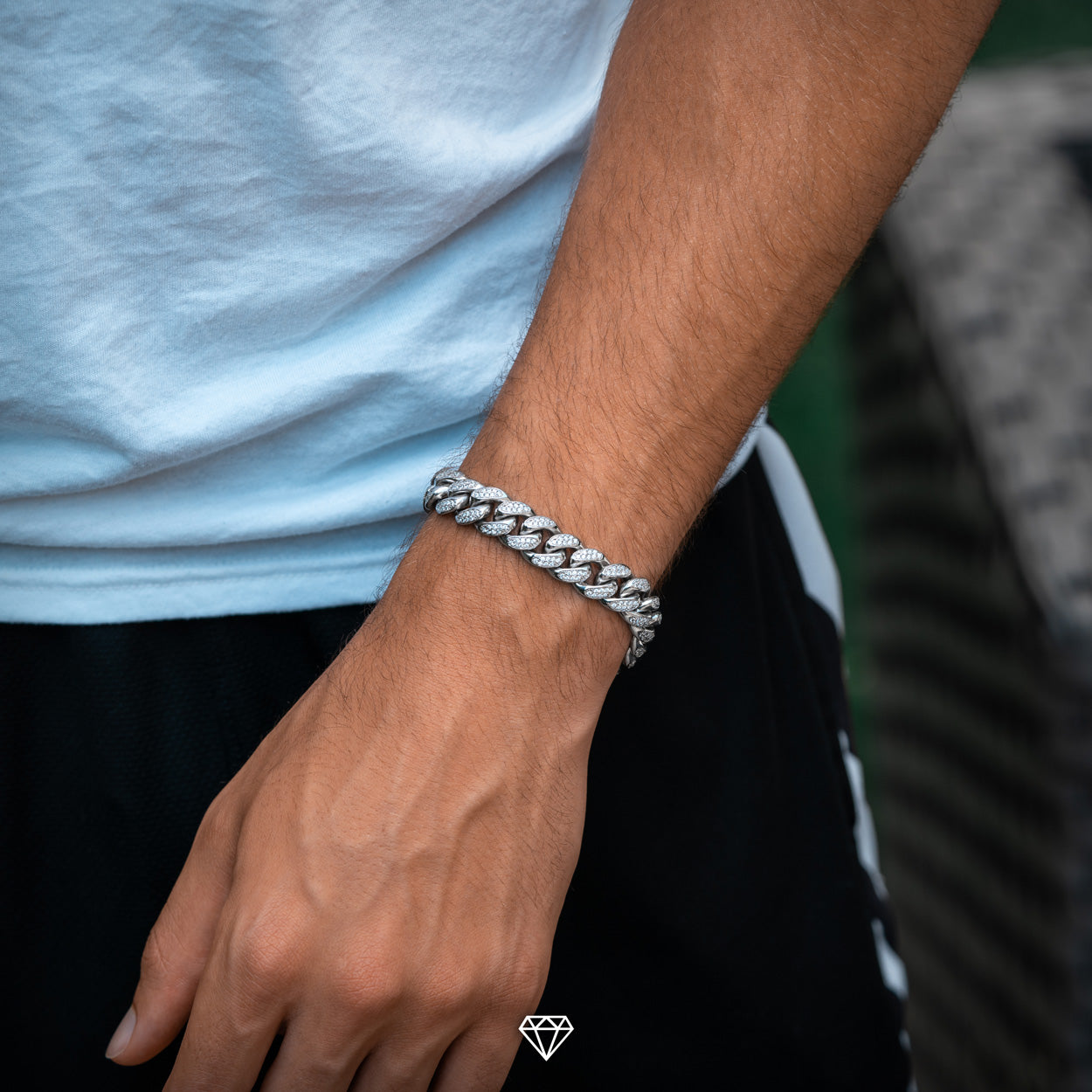 Diamond Cuban Link Bracelet for Men