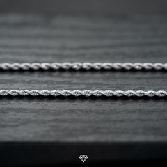 Rope Necklace in White Gold 2mm'