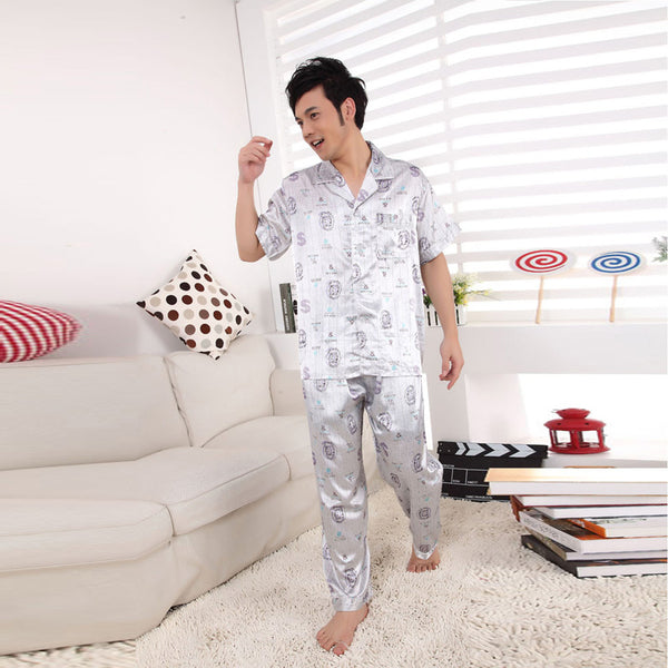 men\'s Silk pajamas for nightshirts tracksuits dressing gown ...