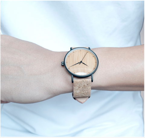 Real Leather Bands Hour Hands Bamboo Wooden Watch