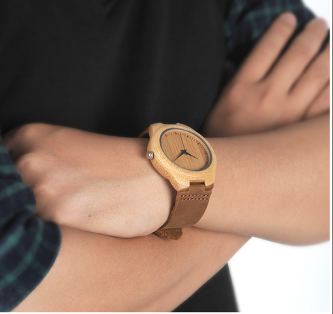 Unique Lover Natural Bamboo Wood Watch