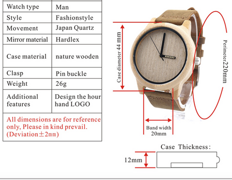 Image of Miyota Bamboo Wood Watch